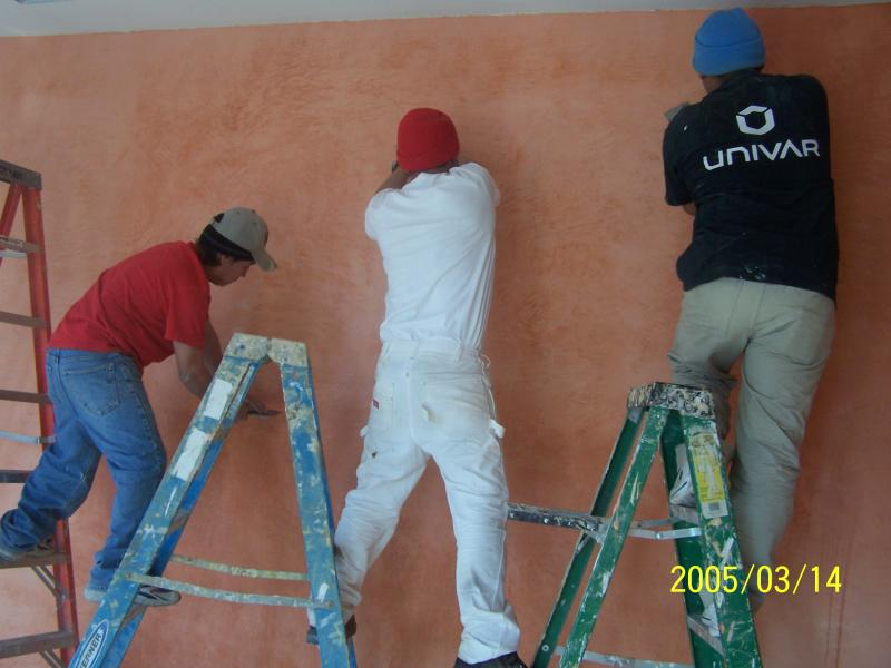 team working plaster